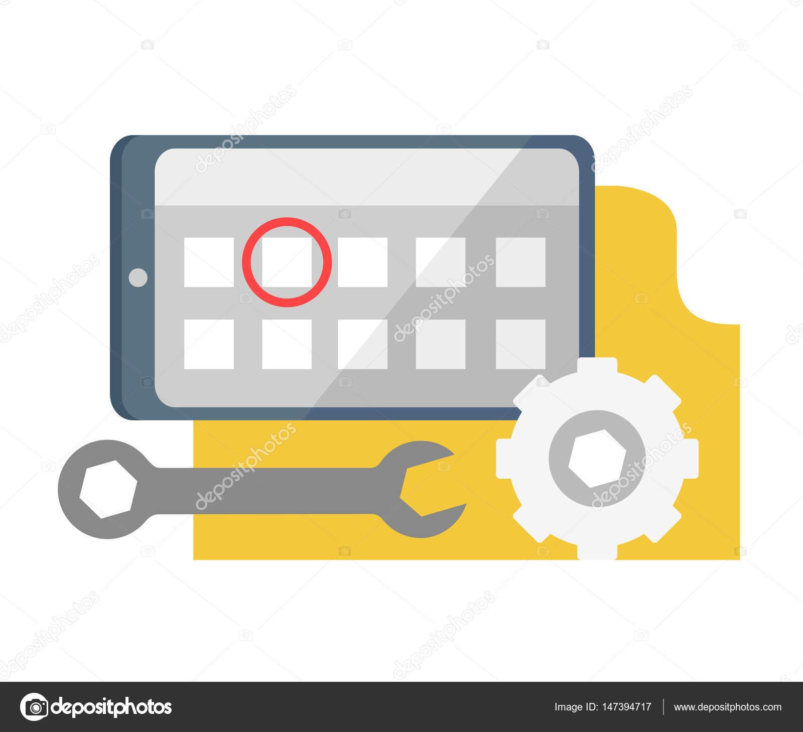 Calendrier Definition.Icone De Parametres De Calendrier Tablet Pc Definition