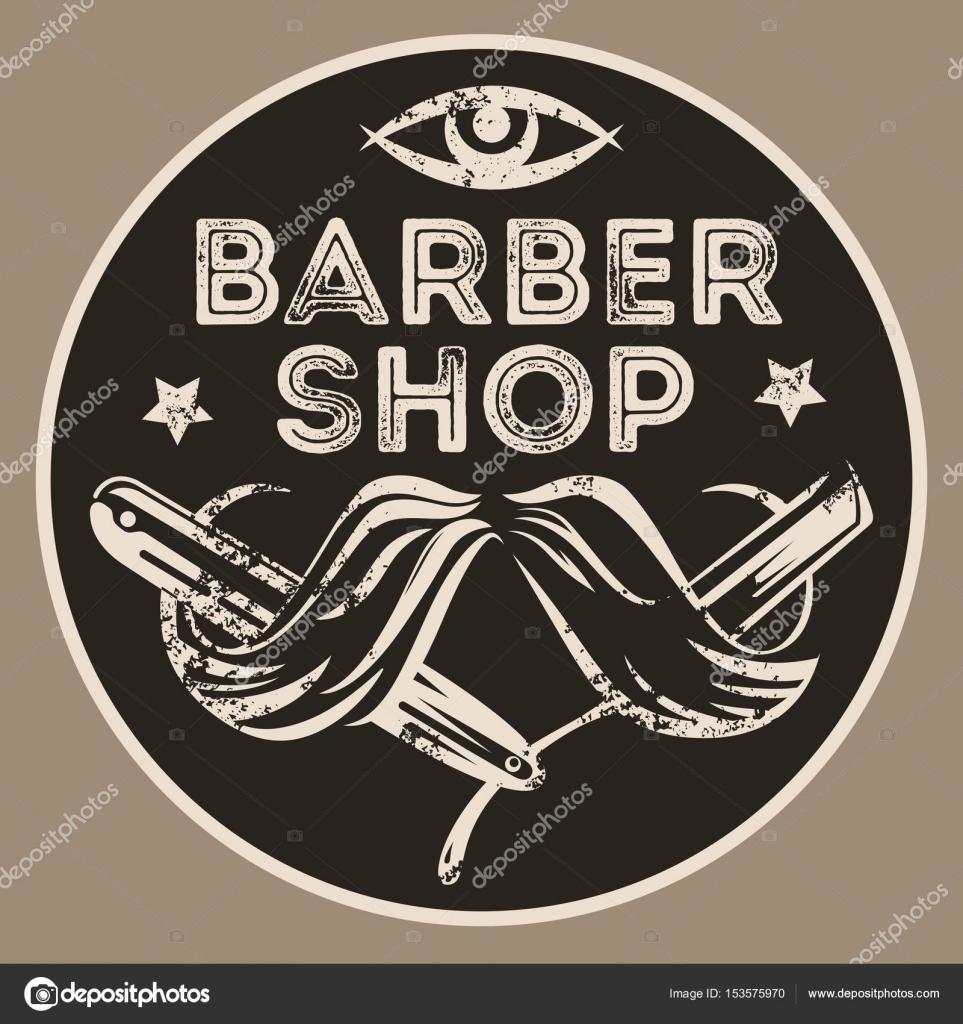 Brand new Vintage barber shop vector emblem, badge, sign, sticker layout  PH76