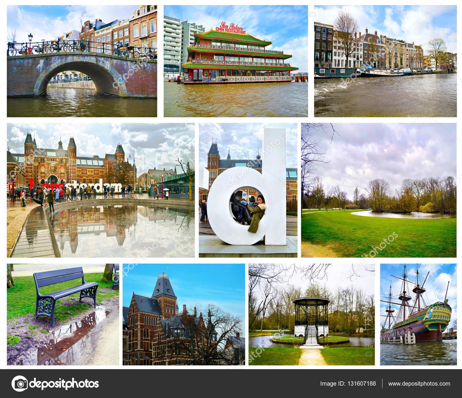 collage de fotos de amsterdam holanda pases bajos u fotografa editorial de stock