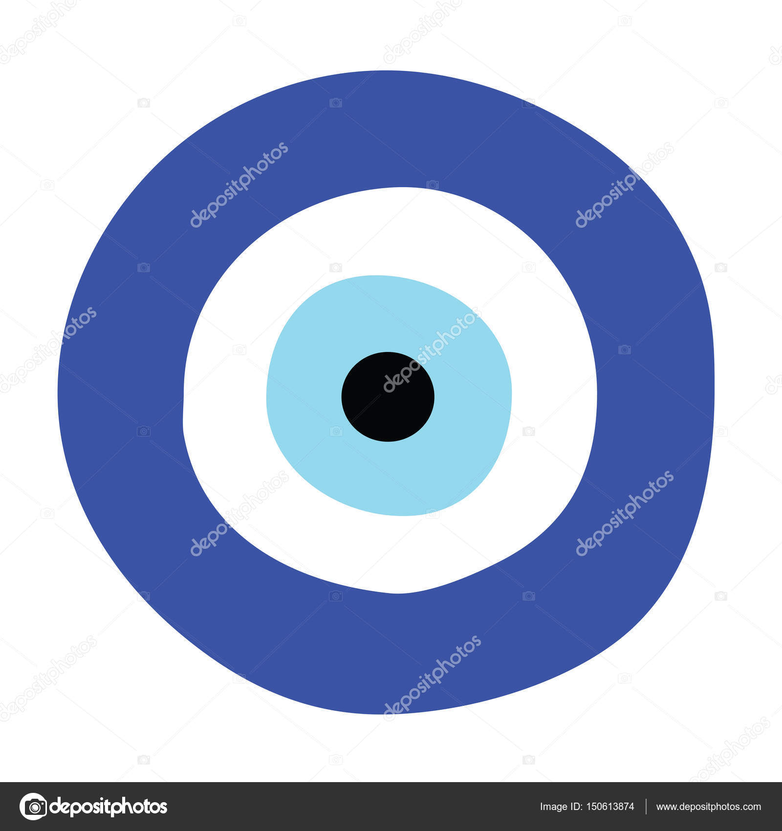 greek evil eye vector - symbol of protection — Stock Vector ... b8a316485