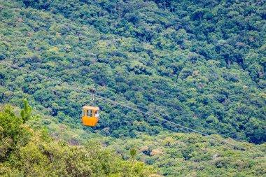 Pocos de Caldas, Minas Gerias/Brazil. Cable cars view