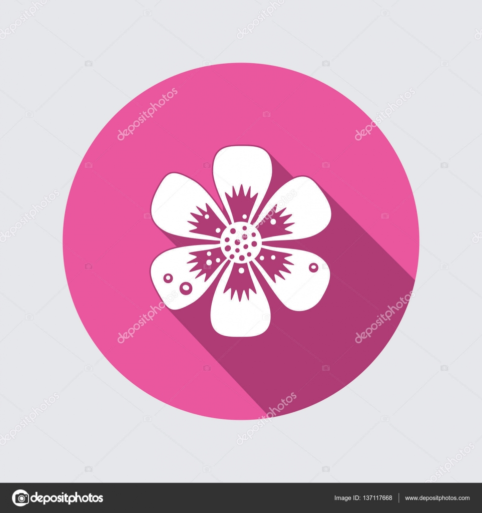 Primula flower icons spring flowers floral symbol round flat primula flower icons spring flowers floral symbol round flat icon with long shadow dhlflorist Images