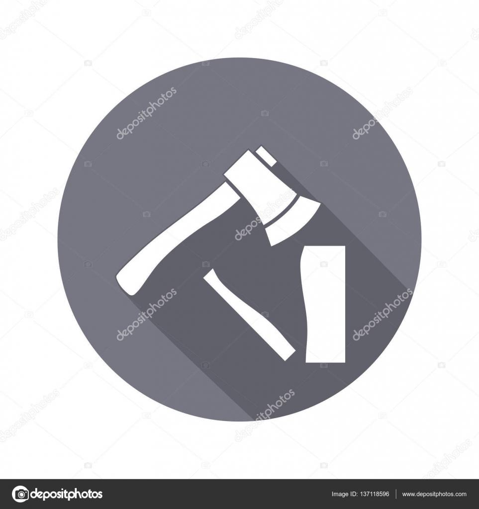 Werkzeug-Symbol. Axt, Hache Instrument. Arbeit, Job, Arbeit, Mühe ...