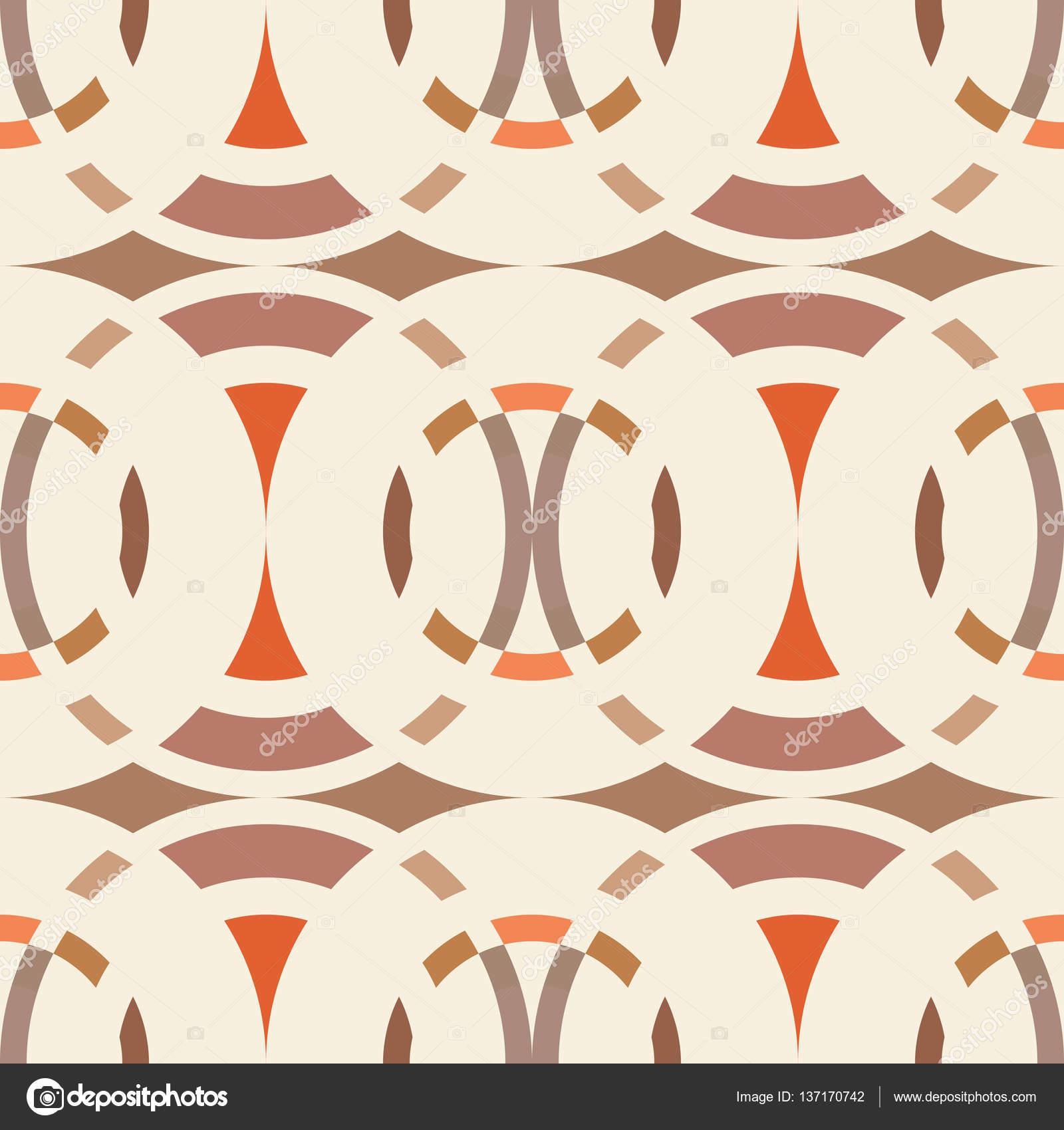 Sin fisuras patrón abstracto geométrico. Fig.7, vista círculo ...