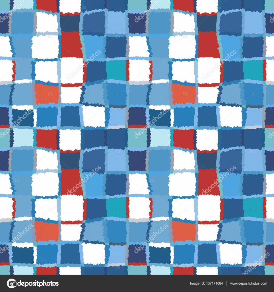 Seamless geometric mosaic checked pattern. Background of woven ...