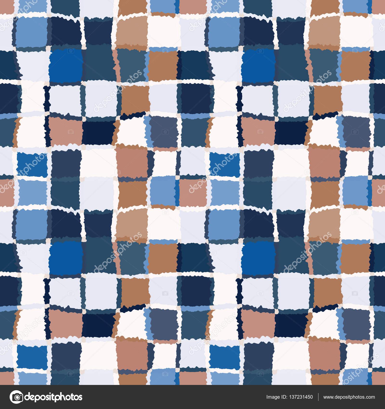 Seamless geometric mosaic checked pattern. Background of woven ...