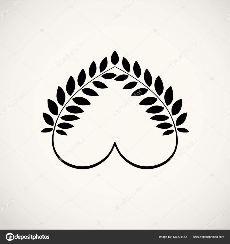 couronne de laurier l ic ne du tatouage c ur bl s tourbillon signes de vue circulaire. Black Bedroom Furniture Sets. Home Design Ideas