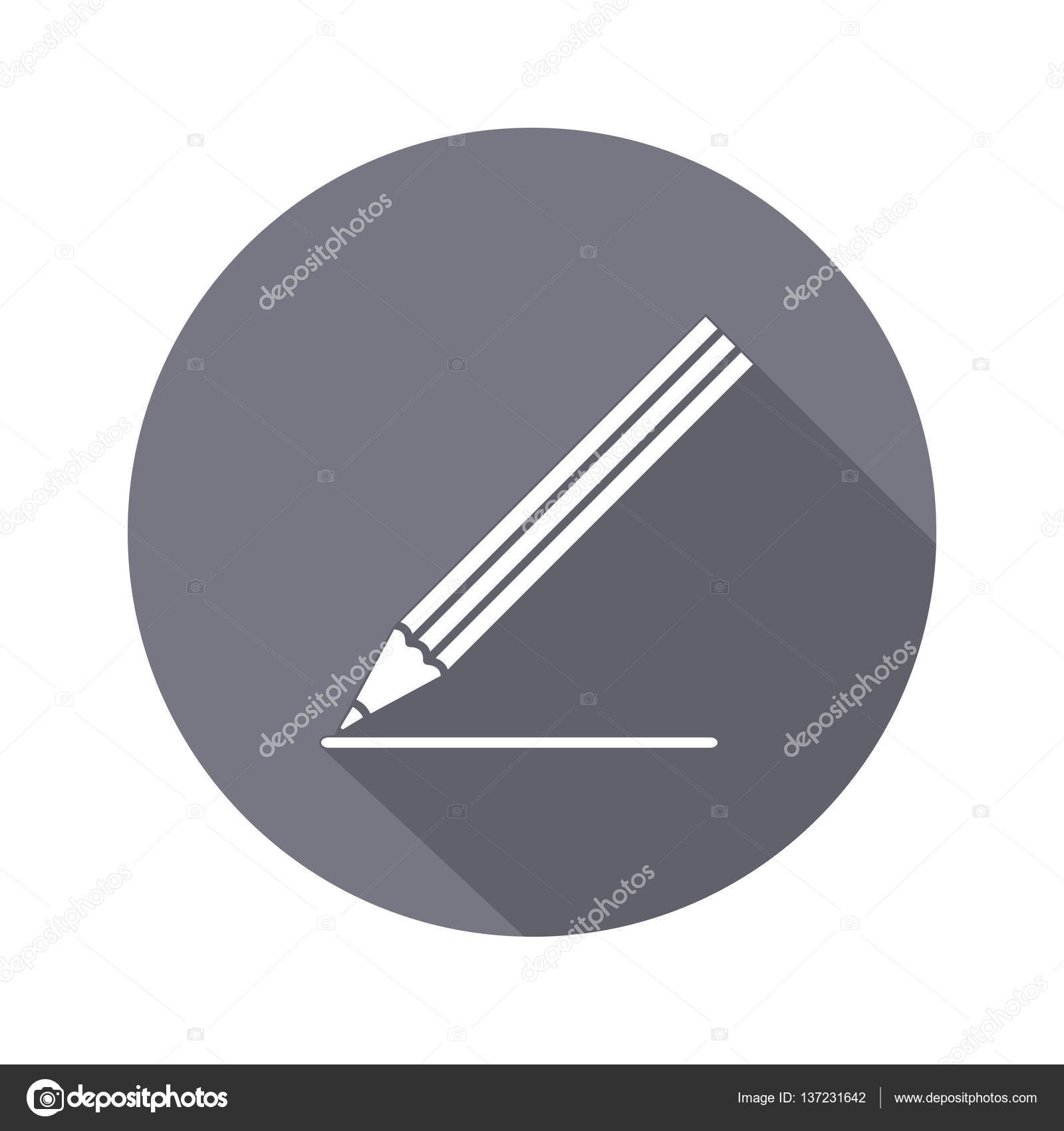 office drawing tools. drawing tools pencil icon education school clerical artistic office building design symbol white sign on round flat button vector u2014 by vlera r