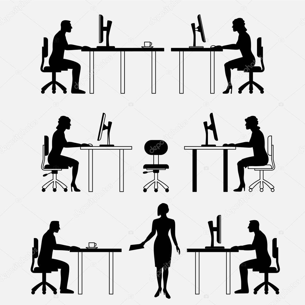Insieme architettonico di mobili con le persone uomo di for Un insieme di mobili
