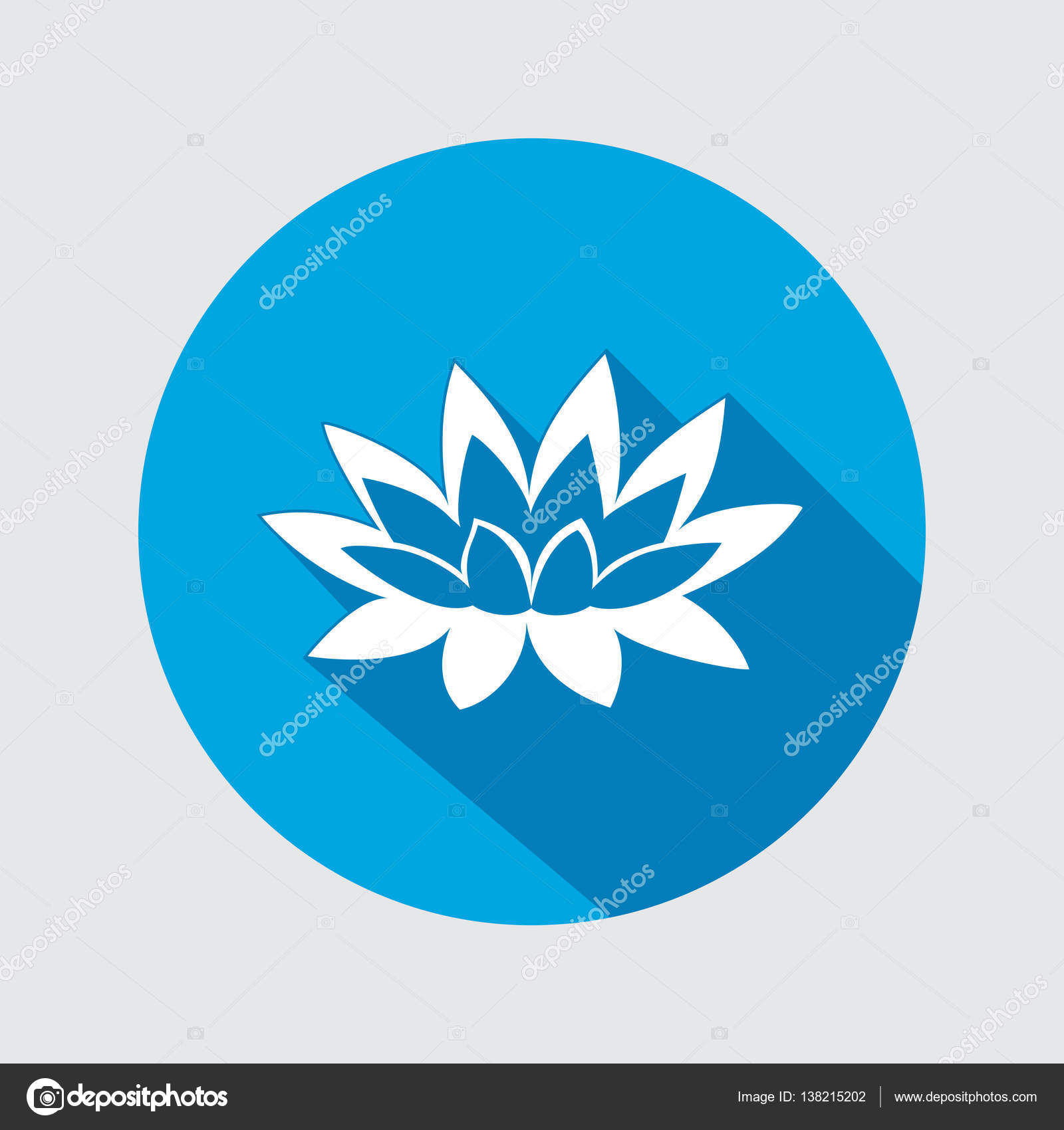 Lily flower icon water lilies waterlily floral symbol round lily flower icon water lilies waterlily floral symbol round circle flat sign izmirmasajfo Choice Image