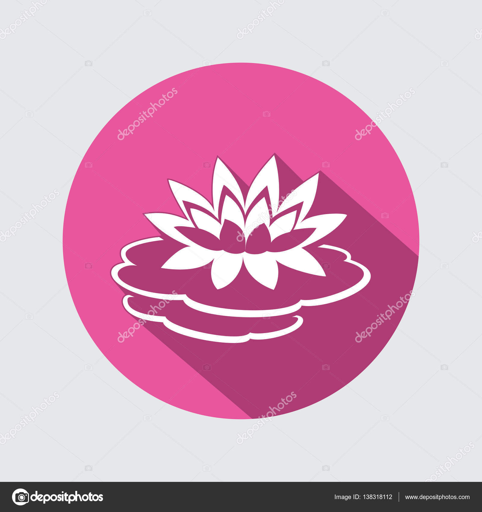 Lily flower icon water lilies waterlily floral symbol round lily flower icon water lilies waterlily floral symbol round circle flat sign izmirmasajfo
