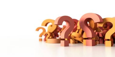infinite question icons, original 3d rendering; business and mar