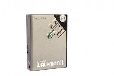 Retro personal portable cassette player