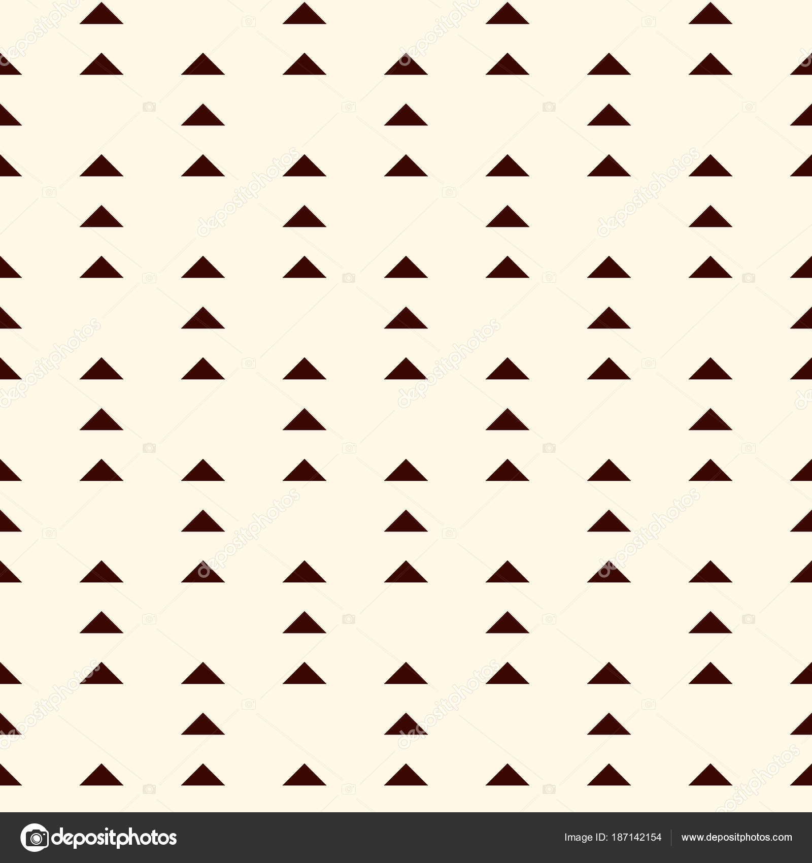 Repeated Mini Triangles On White Background Simple Abstract