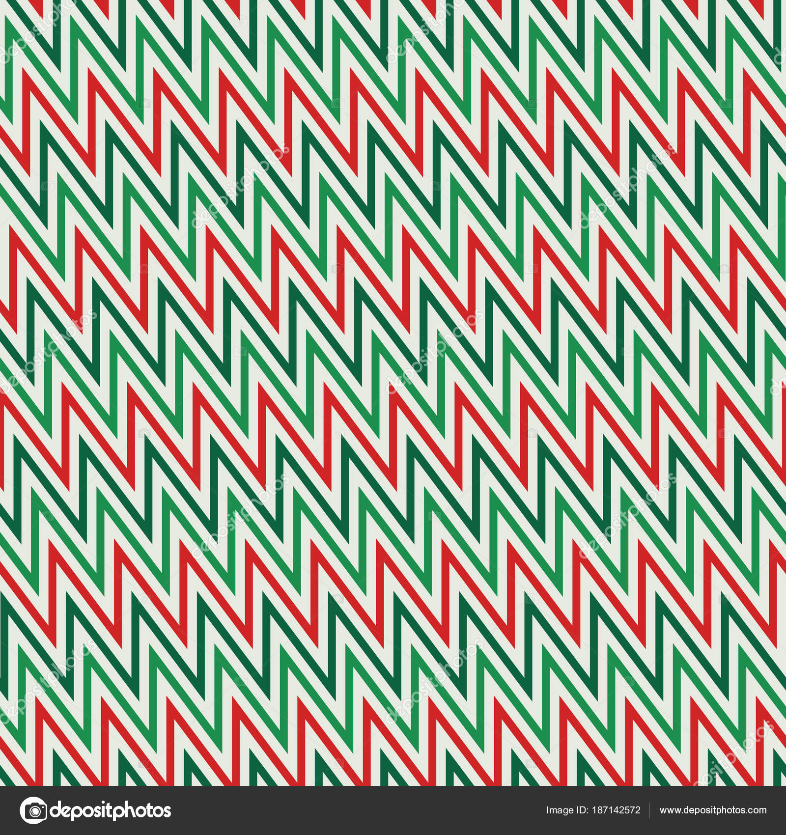 Seamless Pattern In Christmas Traditional Colors Zigzag Horizontal Lines Wallpaper Vivid Digital Paper Textile Print Page Fill