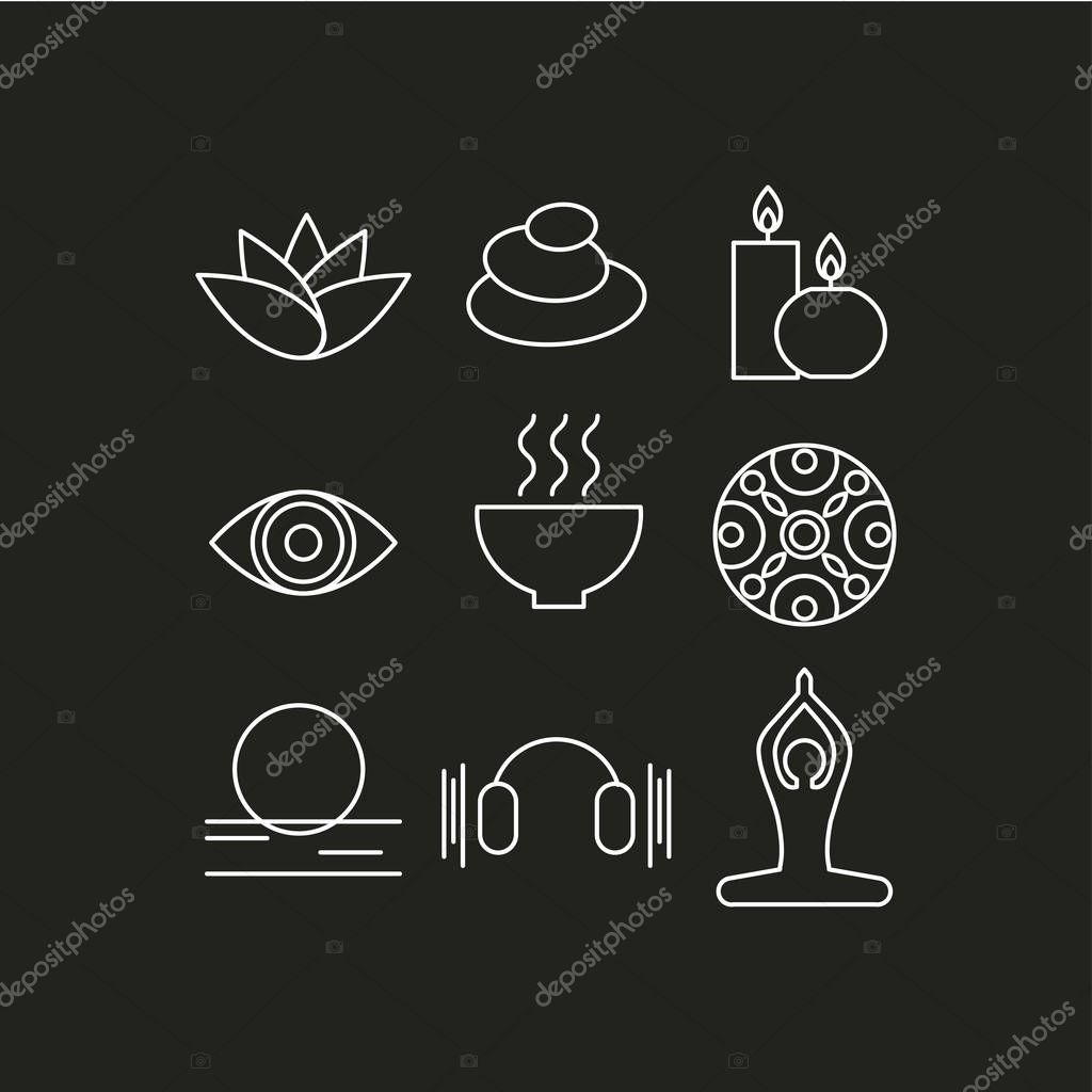 Set of icons relax