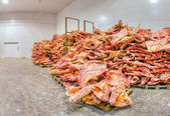 Zmrazené maso uložené
