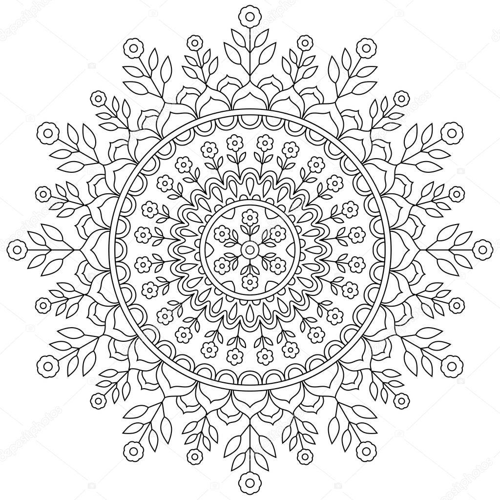 Mod le de mandala cercle image vectorielle - Modele de mandala ...
