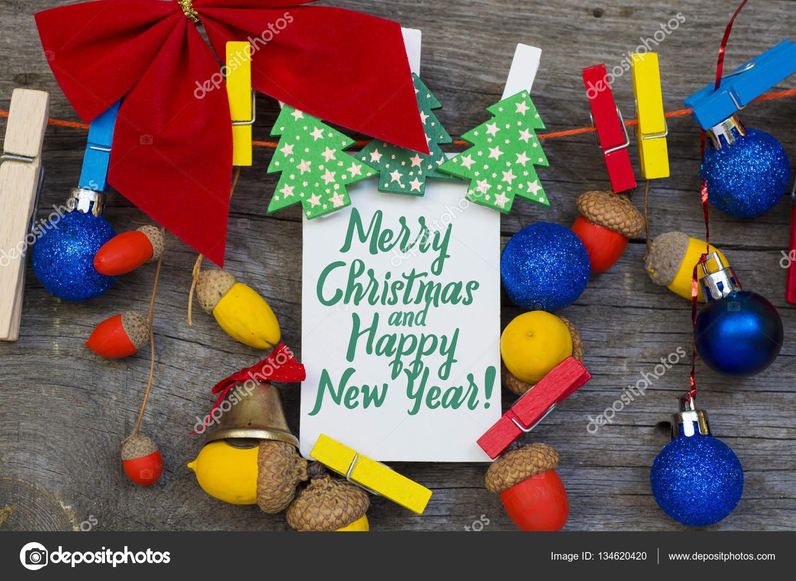 Frohe Weihnachten Und Happy New Year In Italienischer Sprache