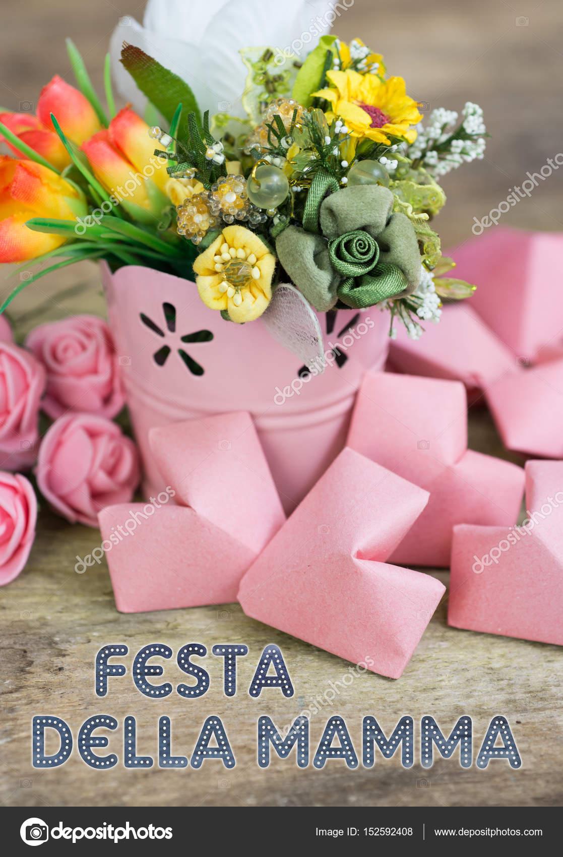 Festa della Mamma - Muttertag auf Italienisch — Stockfoto ...