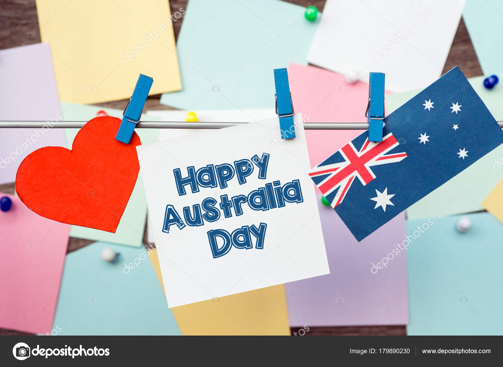 Celebrate australia day holiday january happy australia day message celebrate australia day holiday january happy australia day message greeting stock photo m4hsunfo