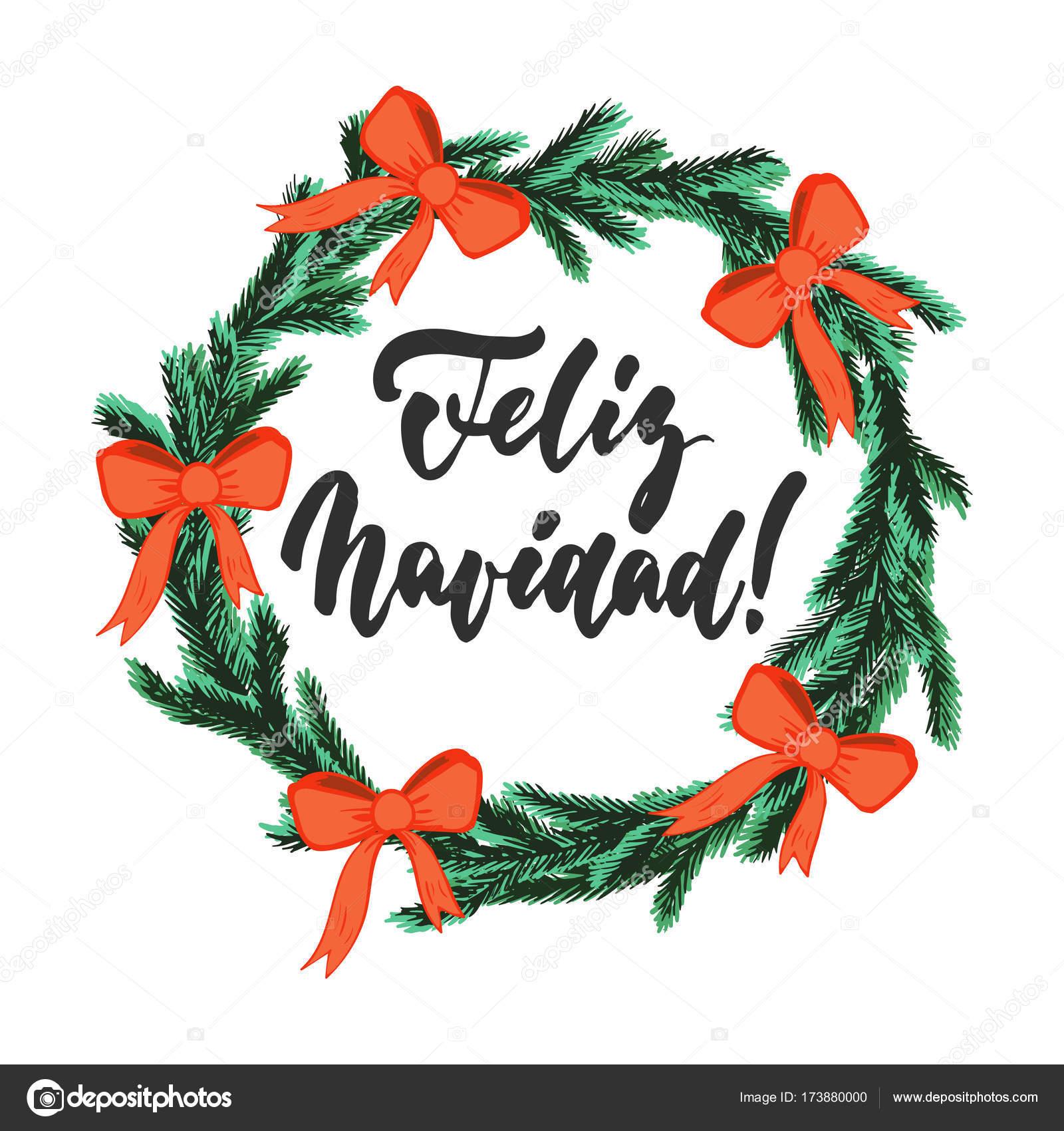 Feliz Navidad Frase De Caligrafía De Vacaciones Navidad Y