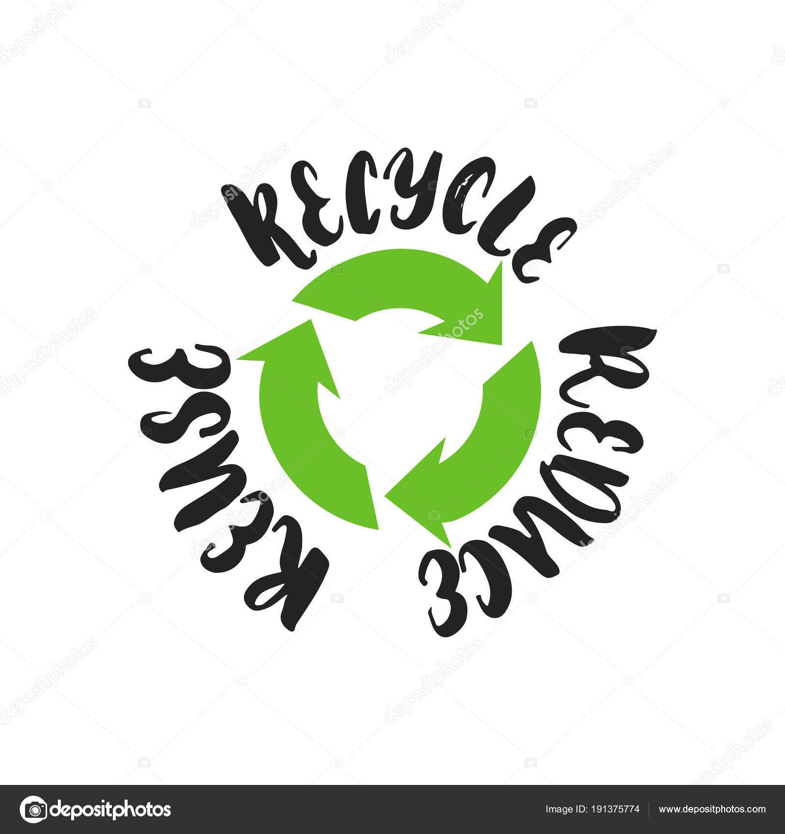Palabras Sobre Reciclaje Reducir Reutilizar Reciclar