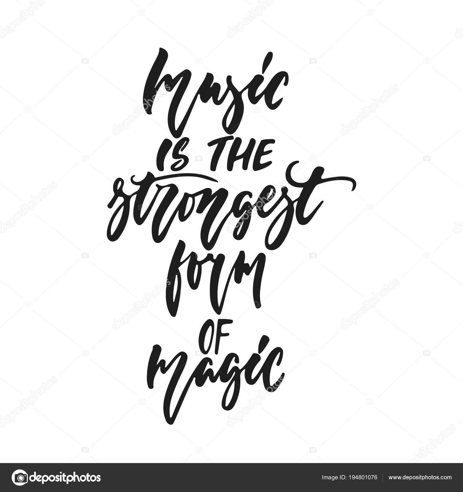 gratulationskort med musik Musik är den starkaste formen av magi   handritad bokstäver citat  gratulationskort med musik