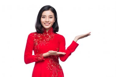 Vietnamese woman in dress traditional Ao Dai