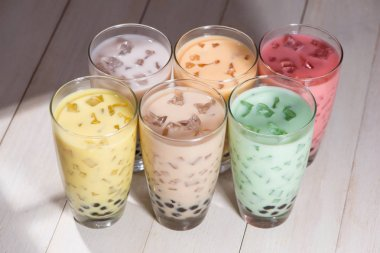 Homemade Various Milk Tea with Pearls