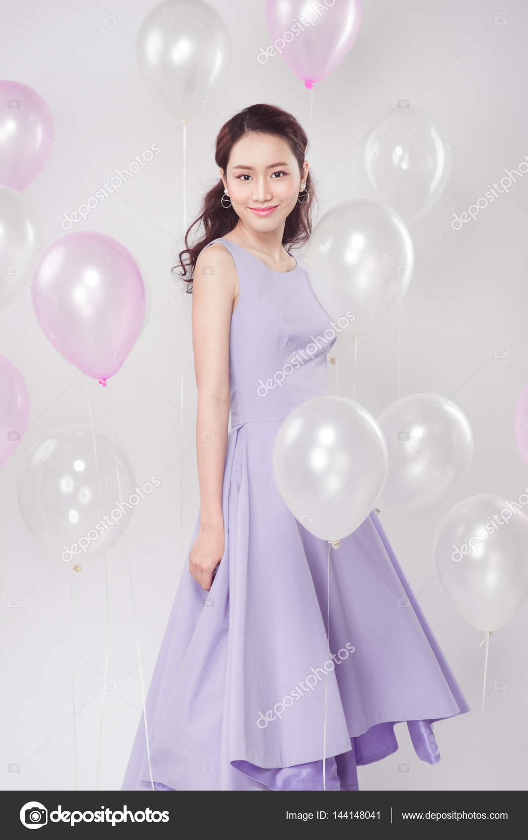 Kleid pastell lila