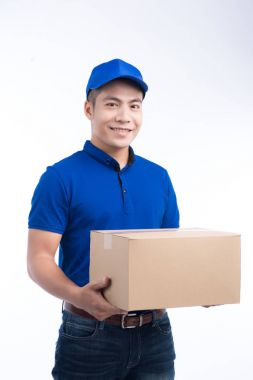 postman with parcel box