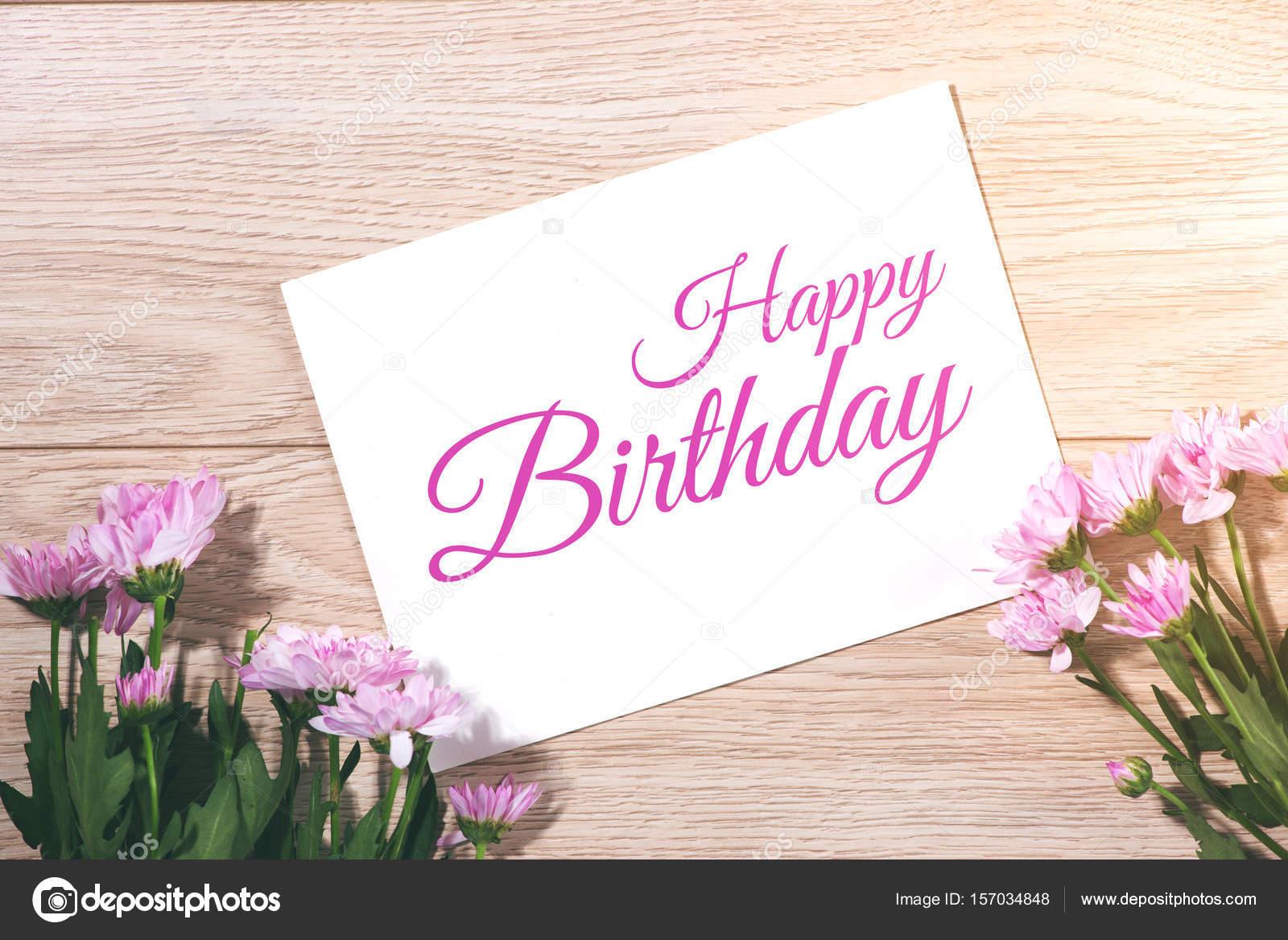 Flores De Aniversario: Cartão De Feliz Aniversário Com Flores