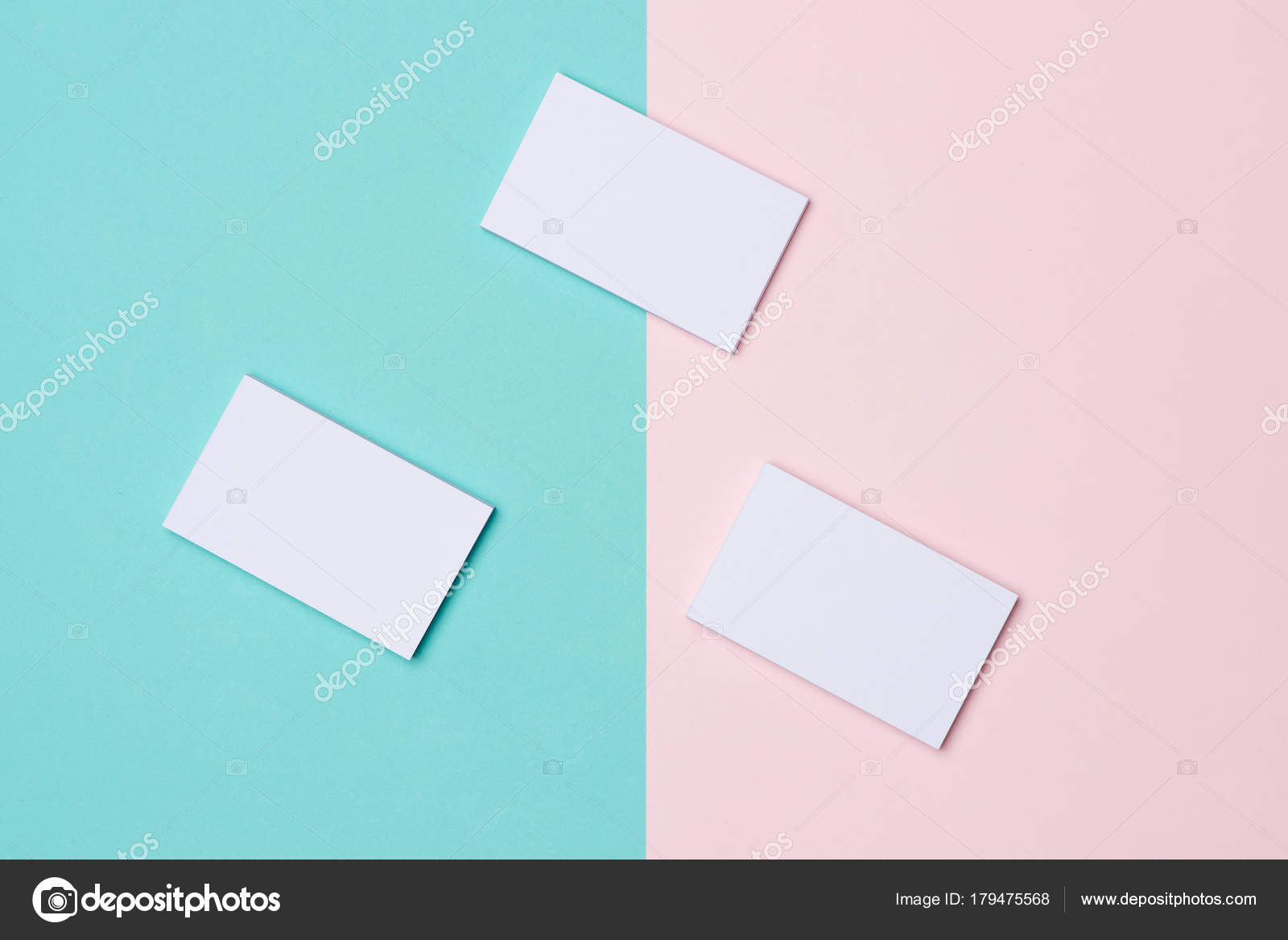 Business cards mockup two color background stock photo makidotvn business cards mockup on two color background photo by makidotvn reheart Choice Image