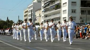 Athens, Greece - July 16, 2017: The orchestra accompanies the evzones at the ceremonial change of honor guard.