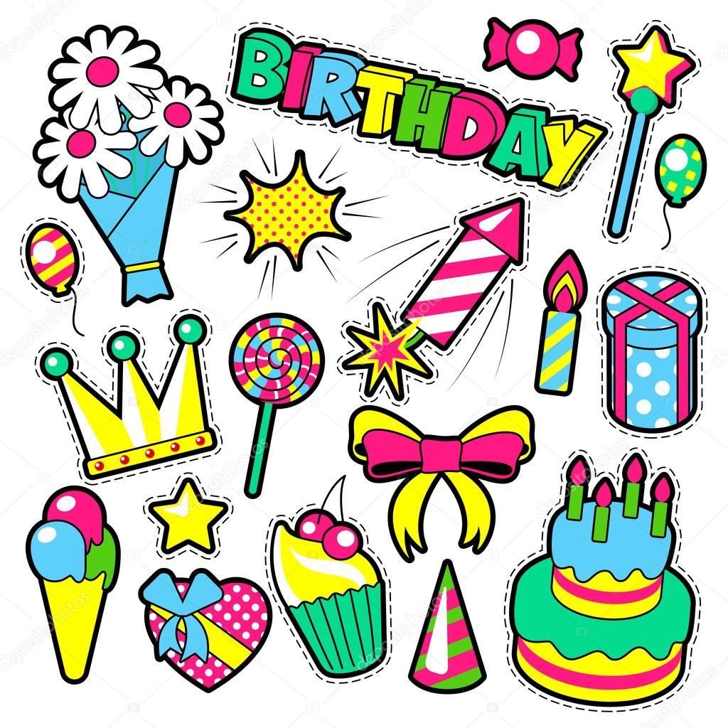 Abzeichen Patches Sticker Geburtstag Modethema Happy Birthday