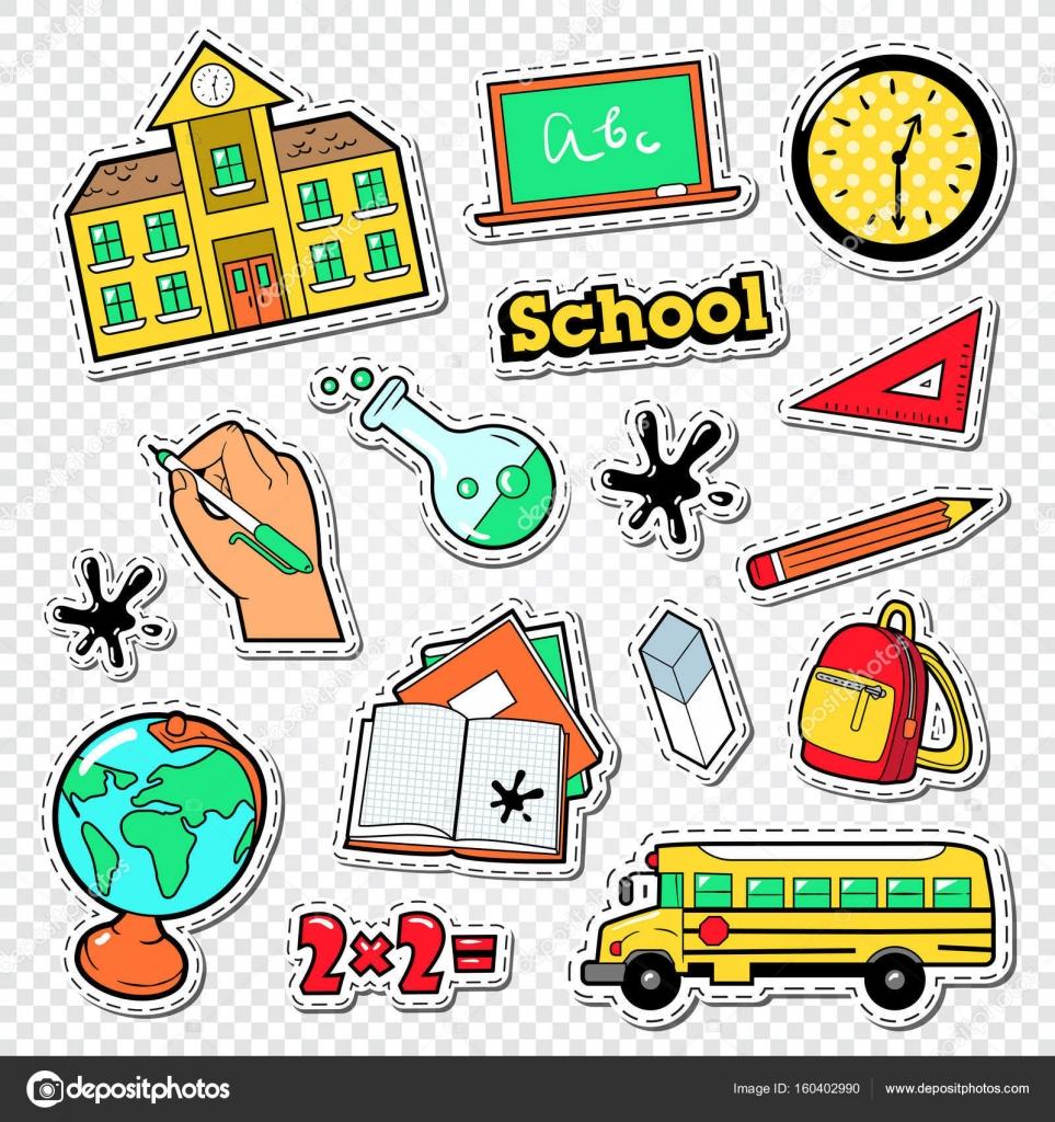 Stickers éducatifs patchs et insignes avec mathématiques