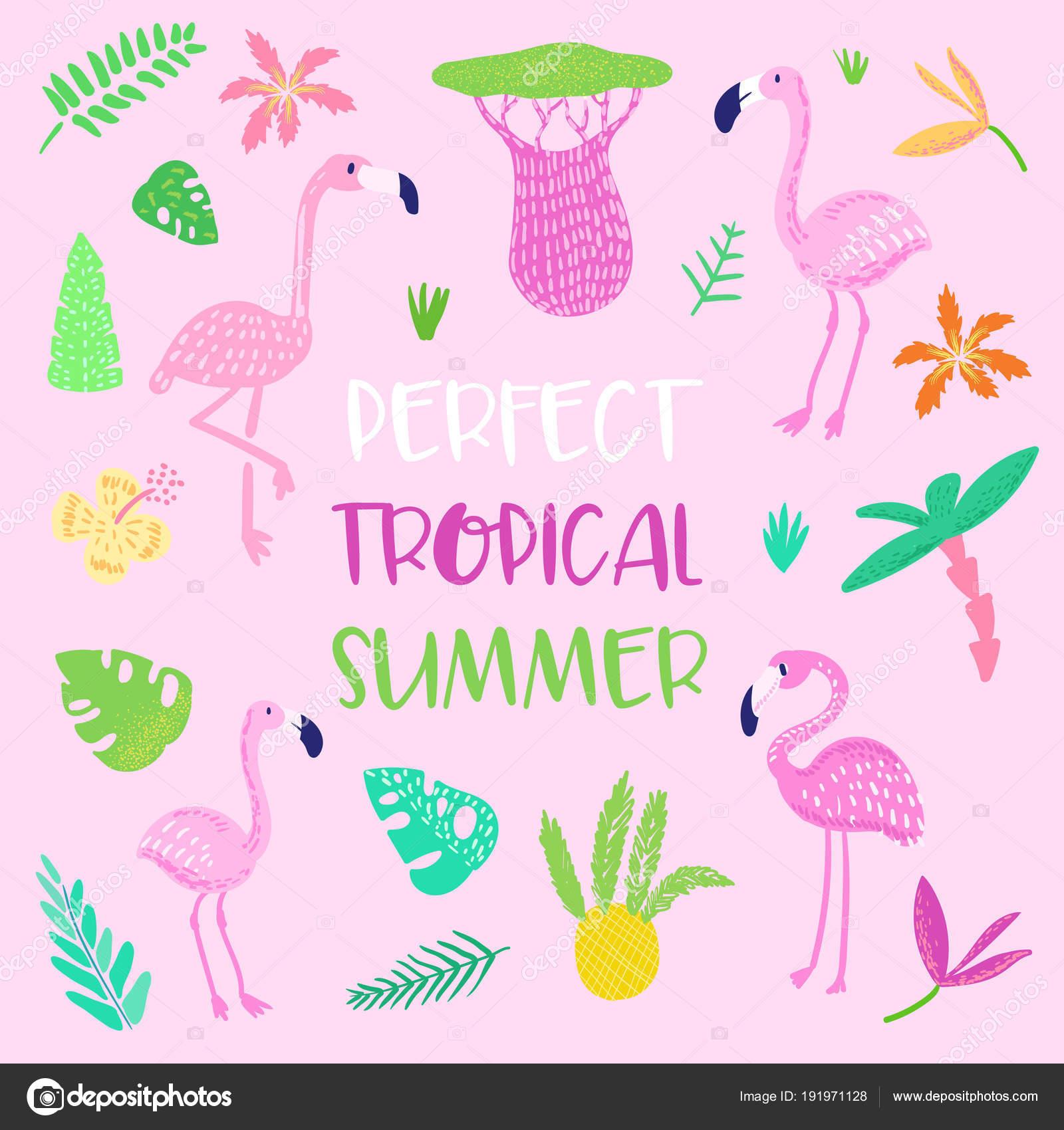 Imágenes Tarjeta De Invitación Infantil Diseño Tropical