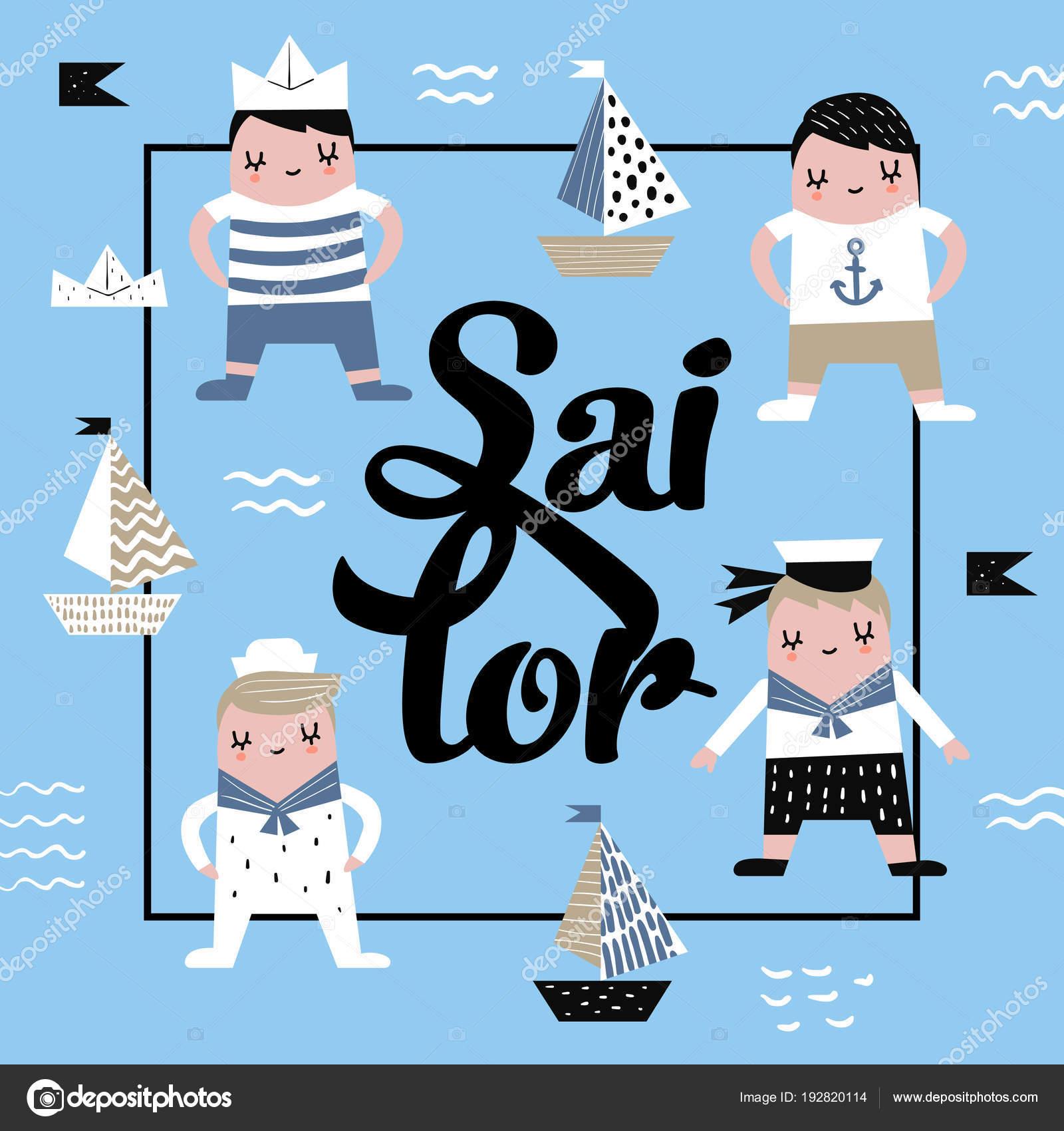 Fondo Barco Marinero Para Imprimir Diseño Infantil Con