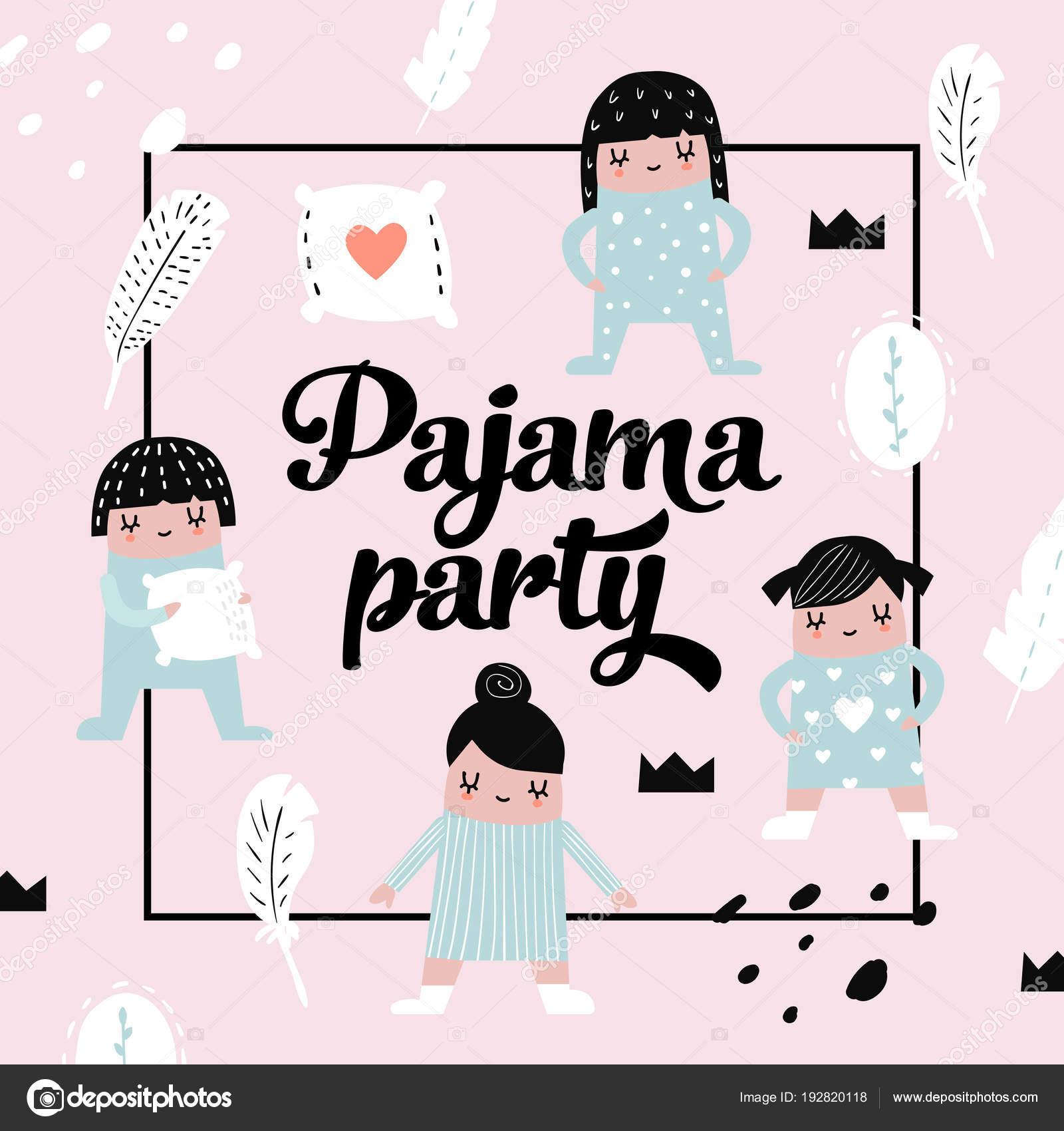 Imágenes Invitaciones Fiesta De Pijamas Para Imprimir