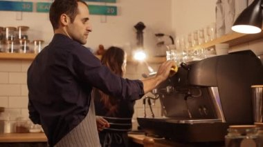 barista wiping machine with sponge