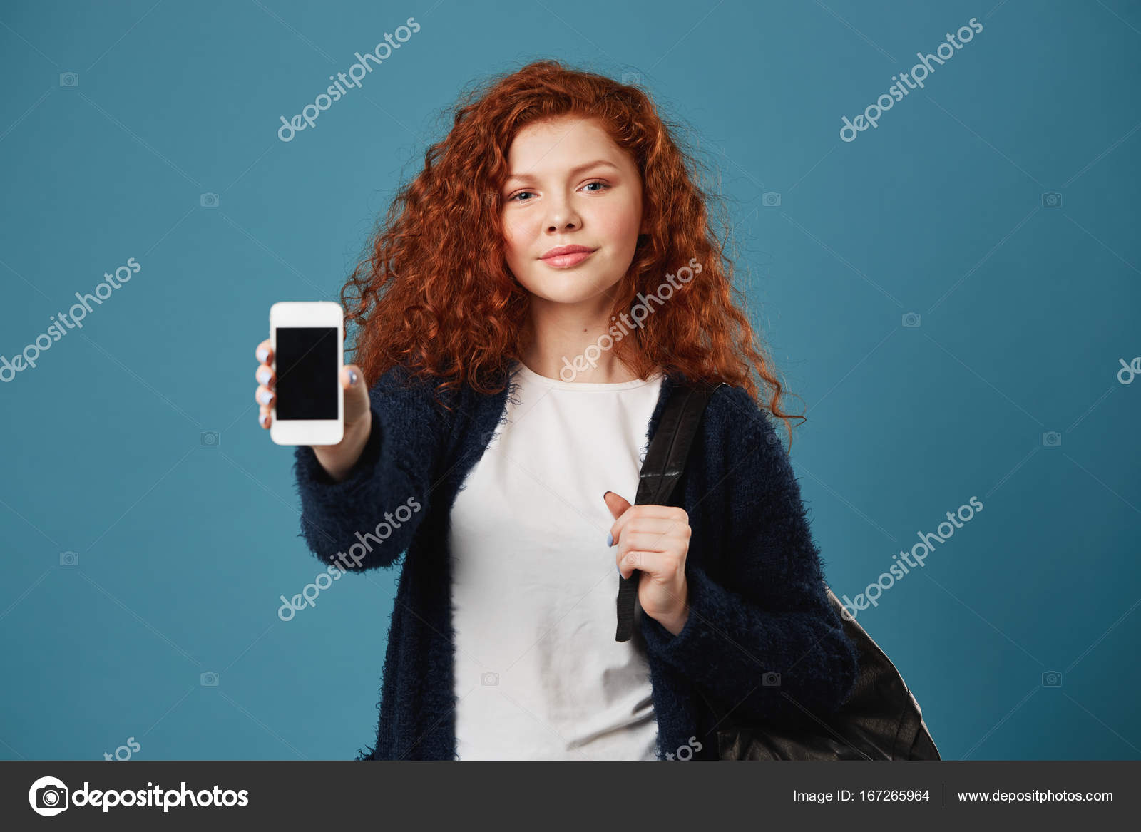 Young teen girl cell phone opinion