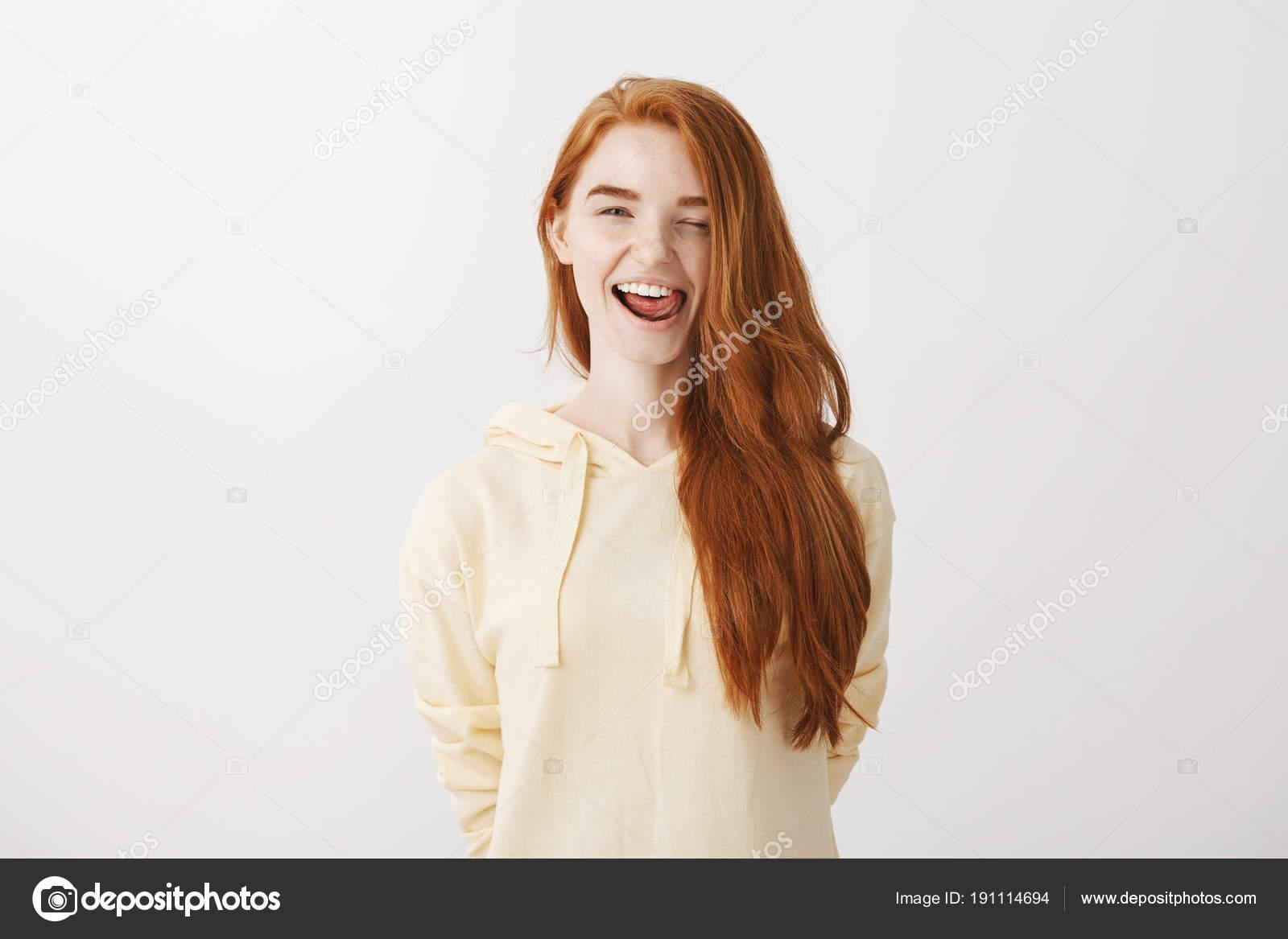 Mood redhead girlfriend