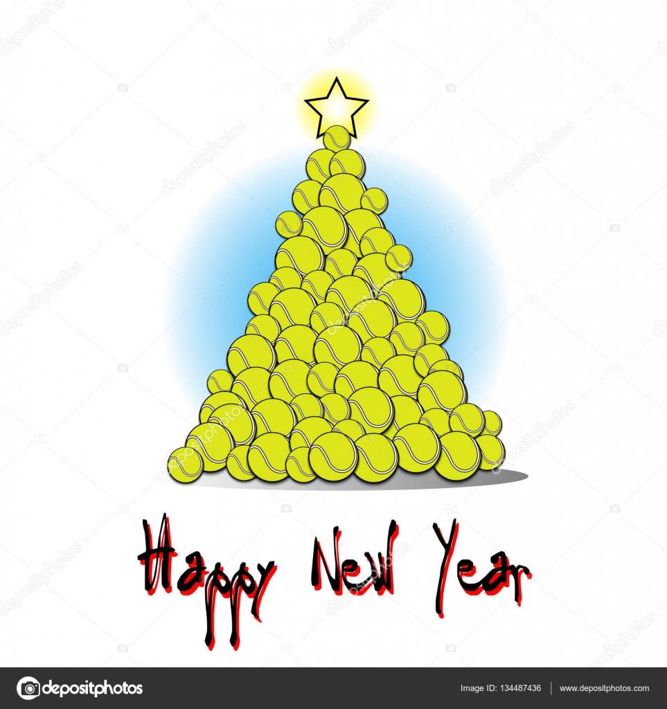 Auguri Di Natale Tennis.Albero Di Natale Da Palla Da Tennis Vettoriali Stock C Mityay Pg