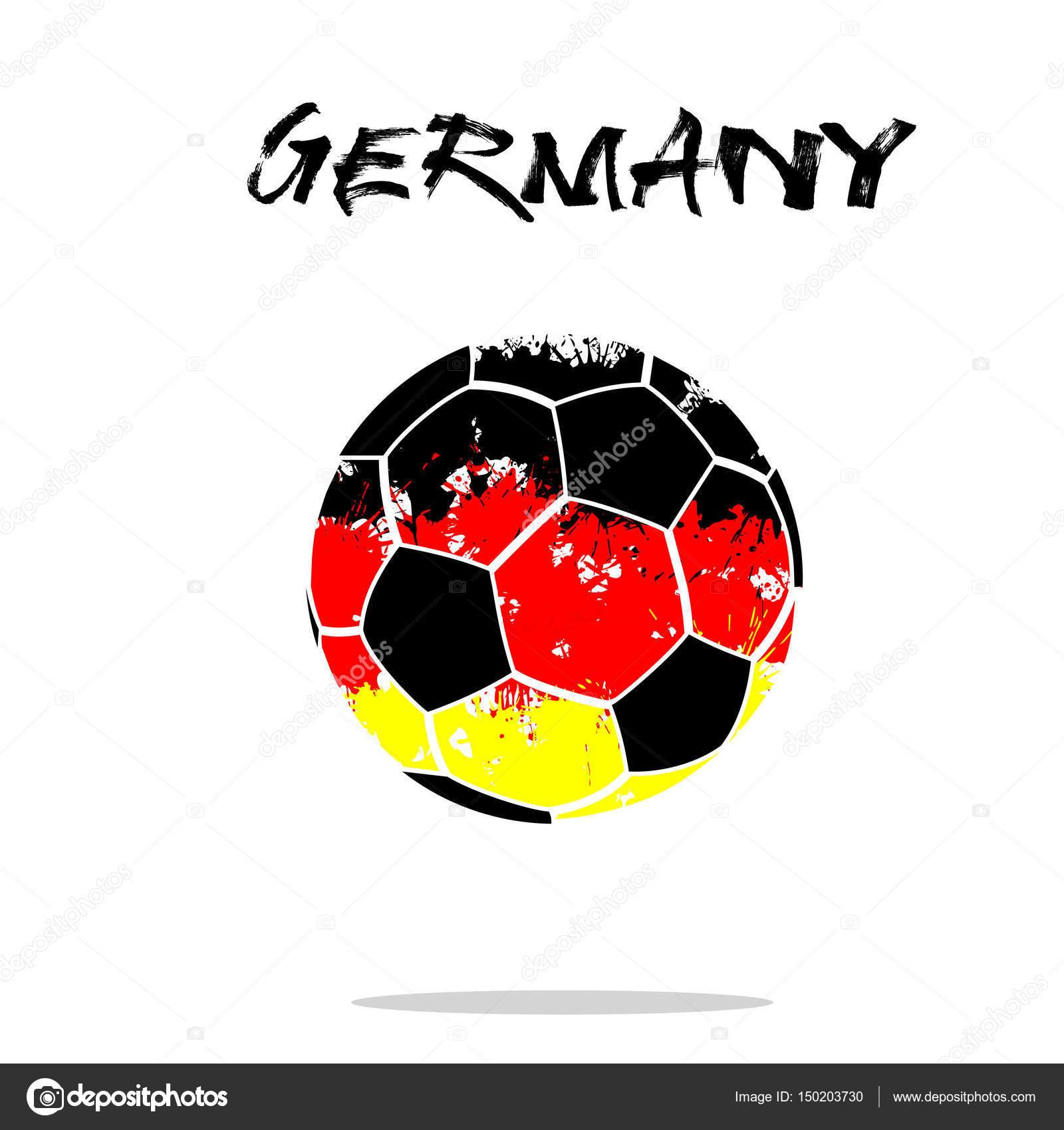 Flagge Von Deutschland Als Eine Abstrakte Fussball