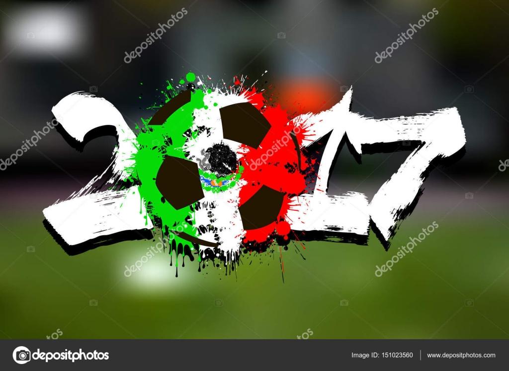 Balón de fútbol abstractos pintados en los colores de la bandera de México.  Ilustración de vector — Vector de Mityay PG 8aa3e9214105b