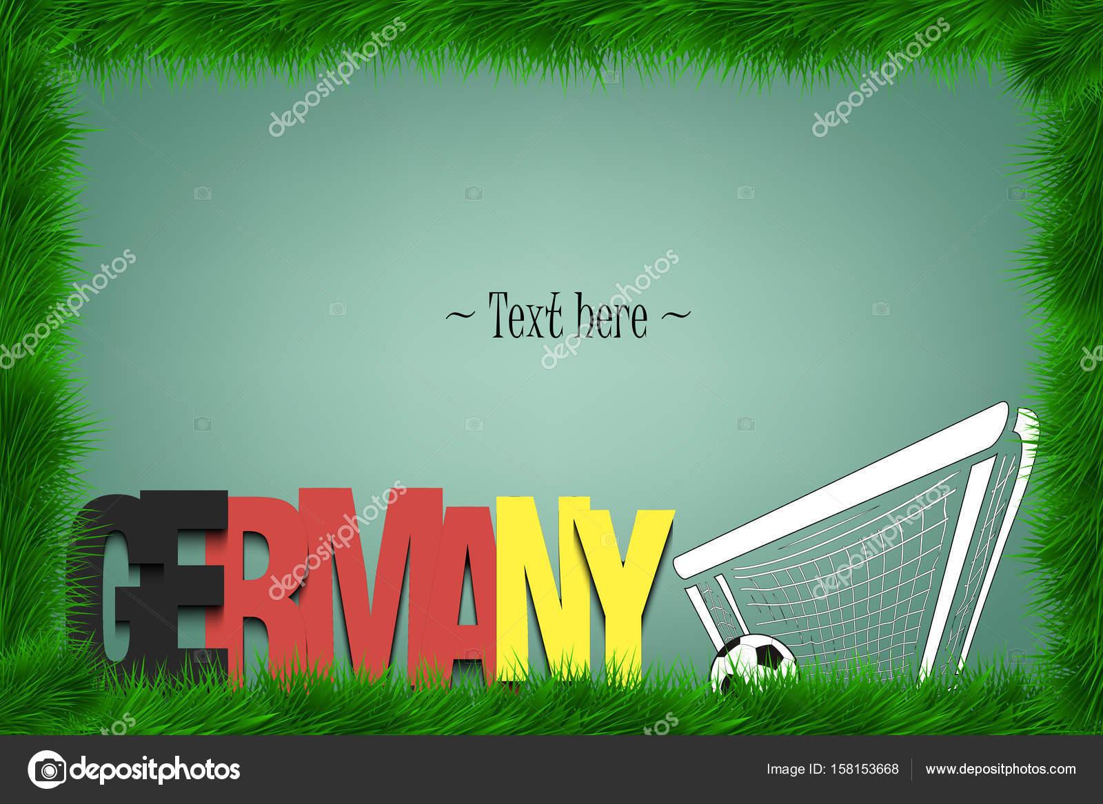 Einen Rahmen mit der Wort-Chile und einem Fußball am Tor ...