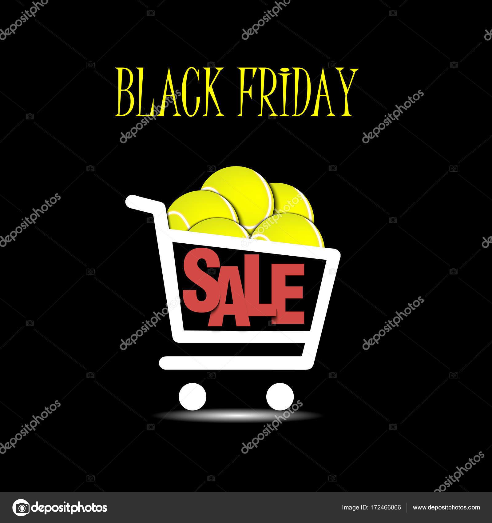 3f2c8d9d7e Bandera de viernes negro. Plantilla de inscripción venta de viernes negro y  cesta de pelota de tenis. Ilustración de vector — Vector de Mityay PG
