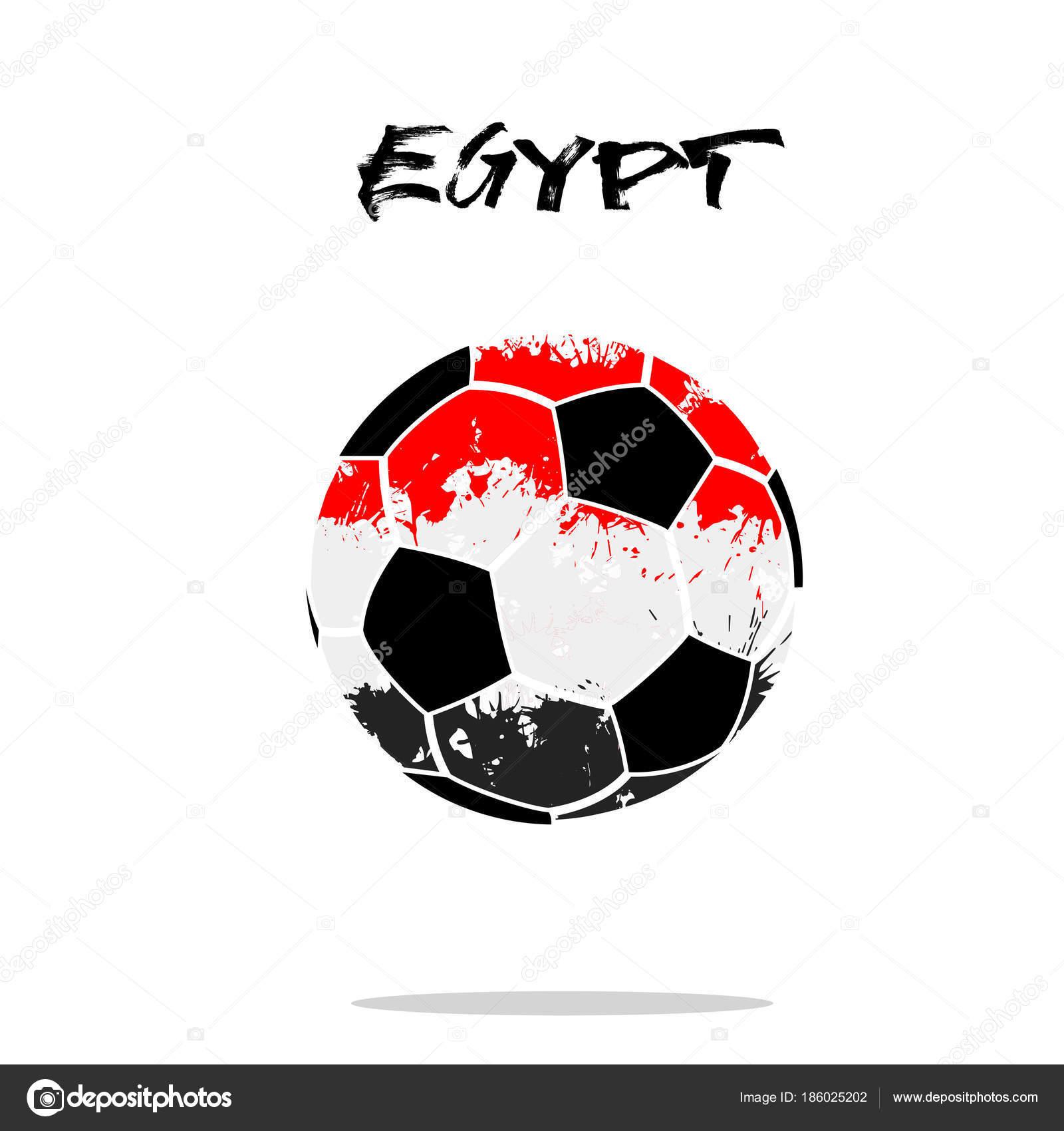 Balón de fútbol abstractos pintados en los colores de la bandera de Egipto.  Ilustración de vector — Vector de Mityay PG 013c173b39c3c