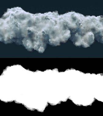 Storm cloud on dark background 3d rendering